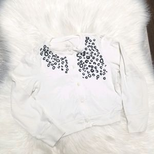 Children's Place Ivory Girl Cardigan Buttons Print